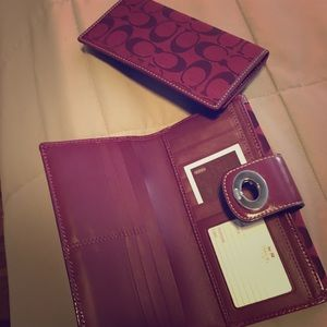 New Coach wallet and checkbook holder